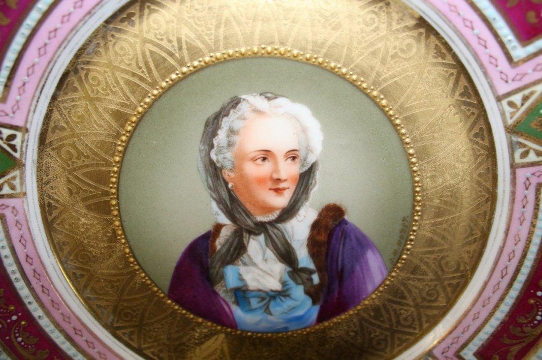 Royal Vienna Portrait Plate Victorian. - 2