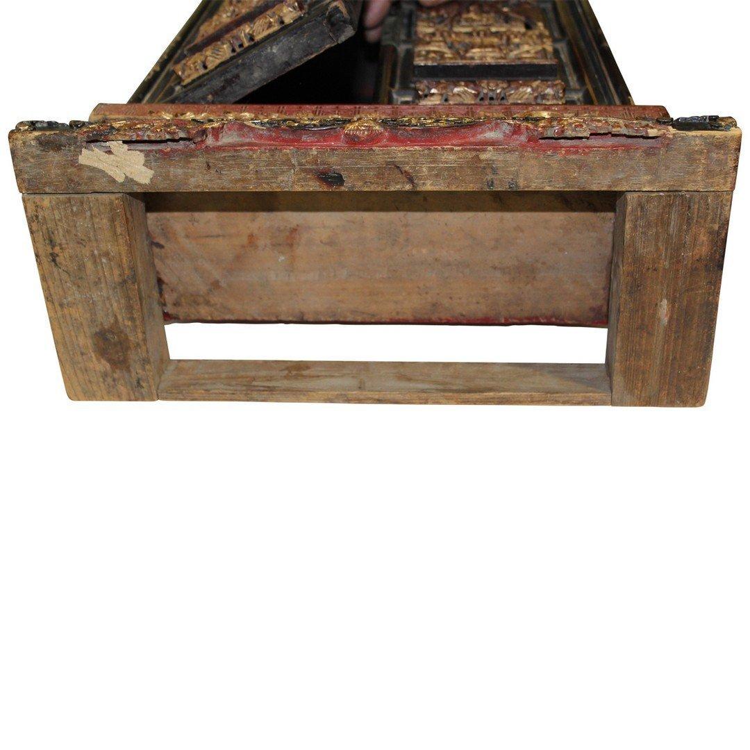 Wooden Antique Buddist Shrine - 3
