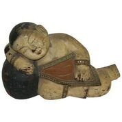 Antique Lying Wooden Buddha