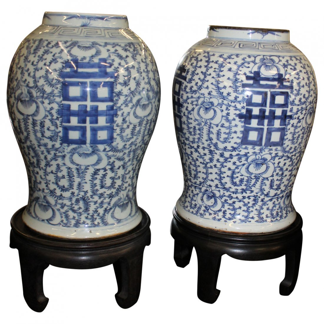 Pair of Asian Urns - 2