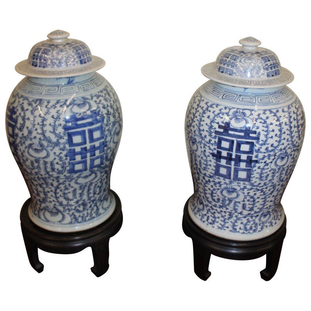 Pair of Asian Urns - 3
