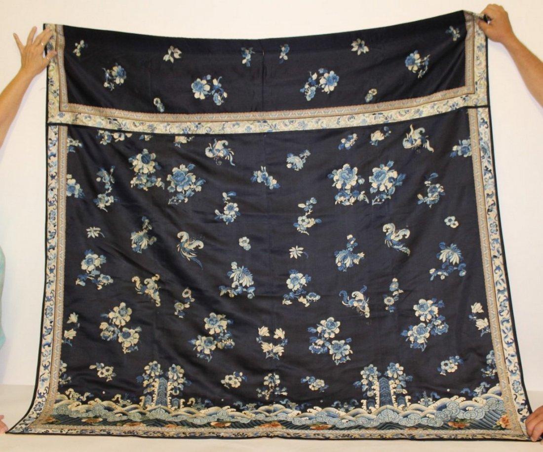 19th Century Chinese Silk Robe Fragment