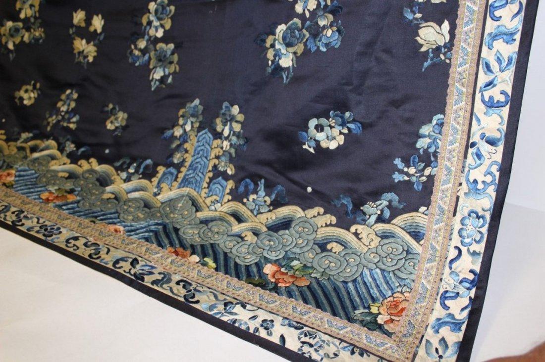 19th Century Chinese Silk Robe Fragment - 2