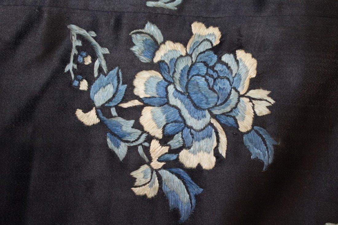19th Century Chinese Silk Robe Fragment - 4