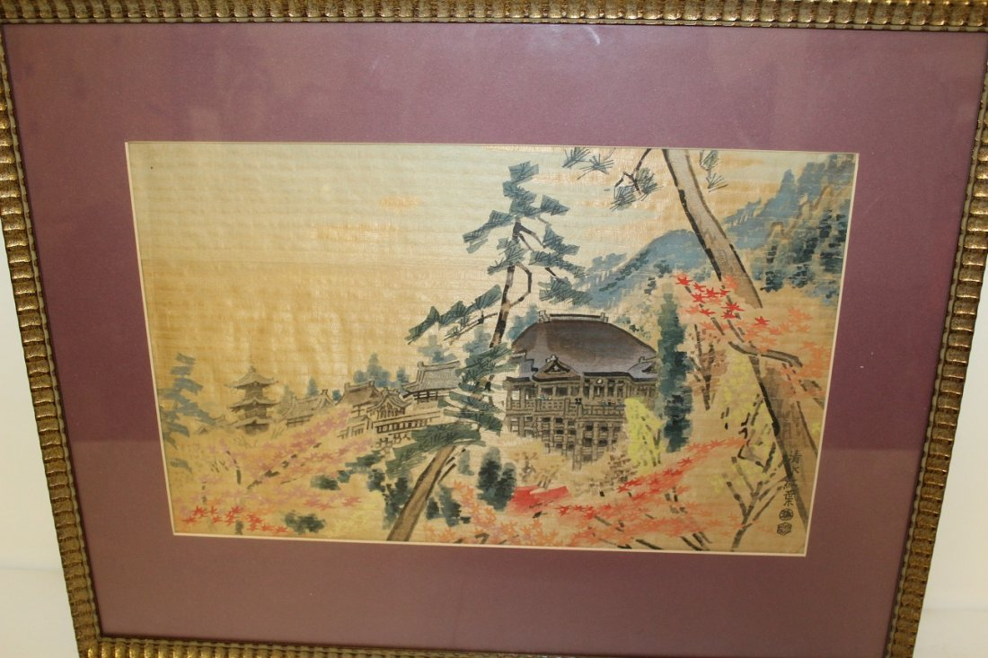 Antique Artist Signed Watercolor