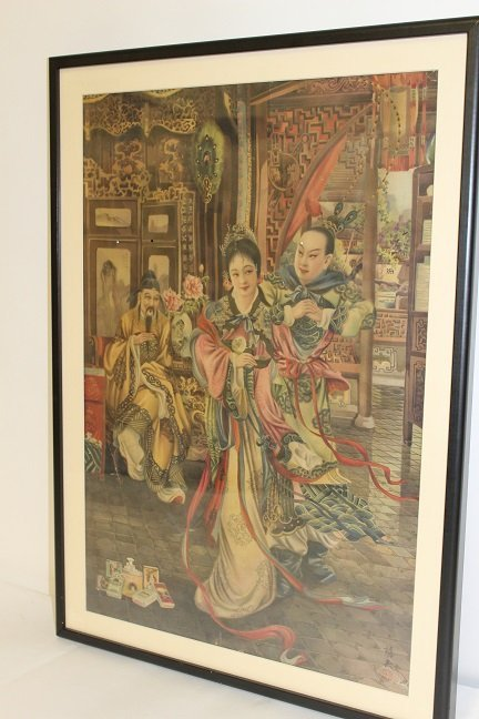 Vintage Chinese Cigarette Advertising Poster.