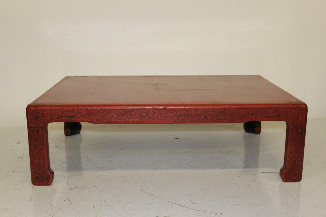 Red Asian Kang Table