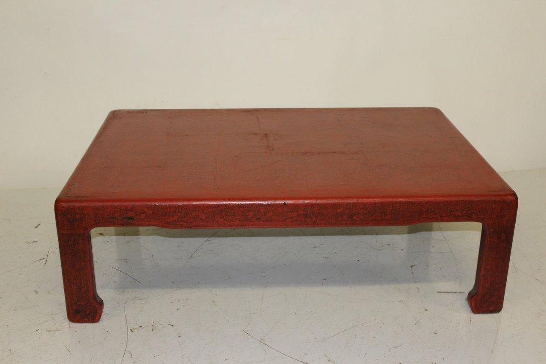 Red Asian Kang Table - 2