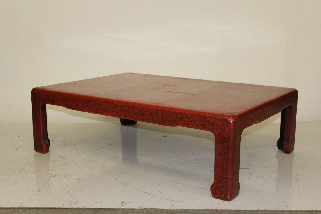Red Asian Kang Table - 3