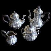 """French Sterling  1850's Tea Set """"950"""" Paris Tea Set"""