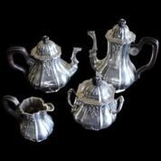 "French Sterling  1850's Tea Set ""950"" Paris Tea Set"