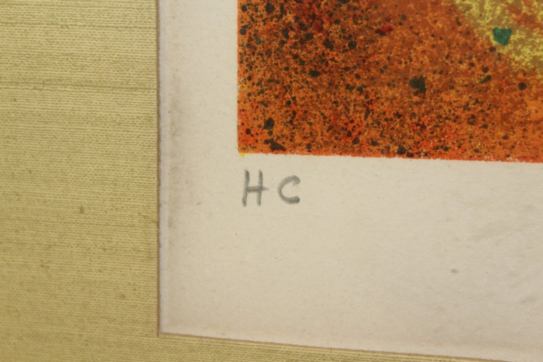 Period Abstract Lithograph Artist Signed - 5
