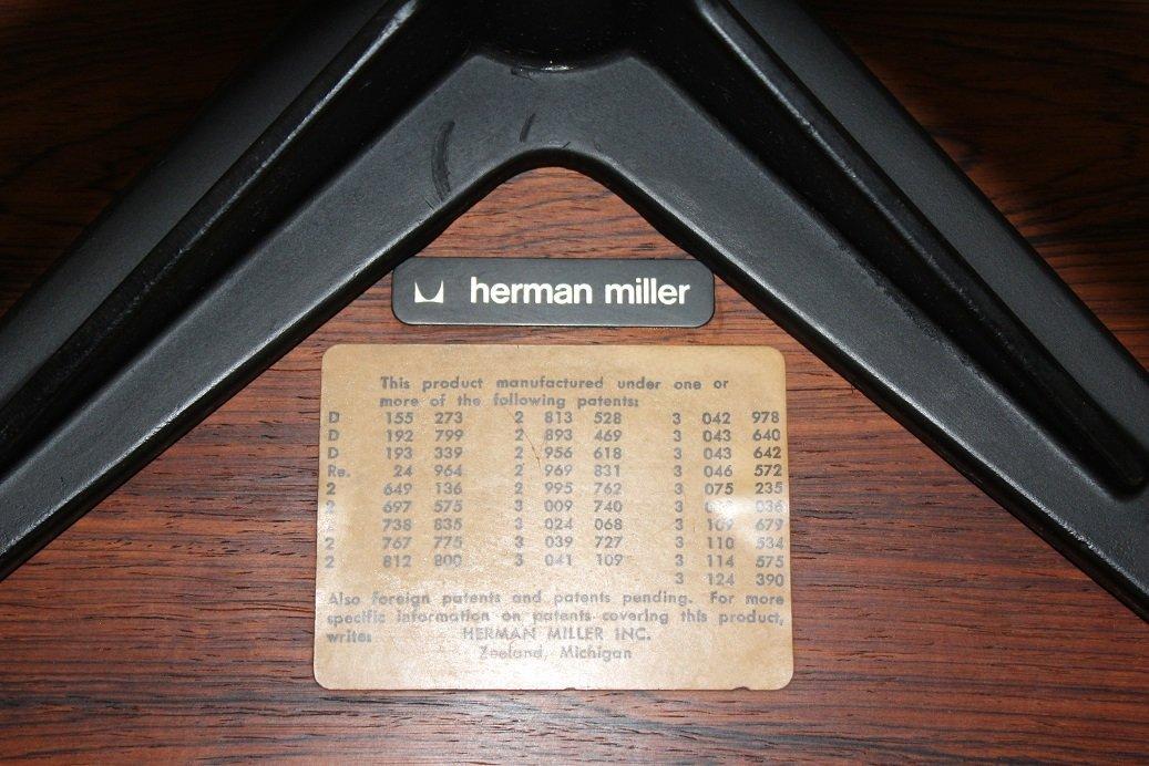 Original Herman Miller Black Foot Stool - 2