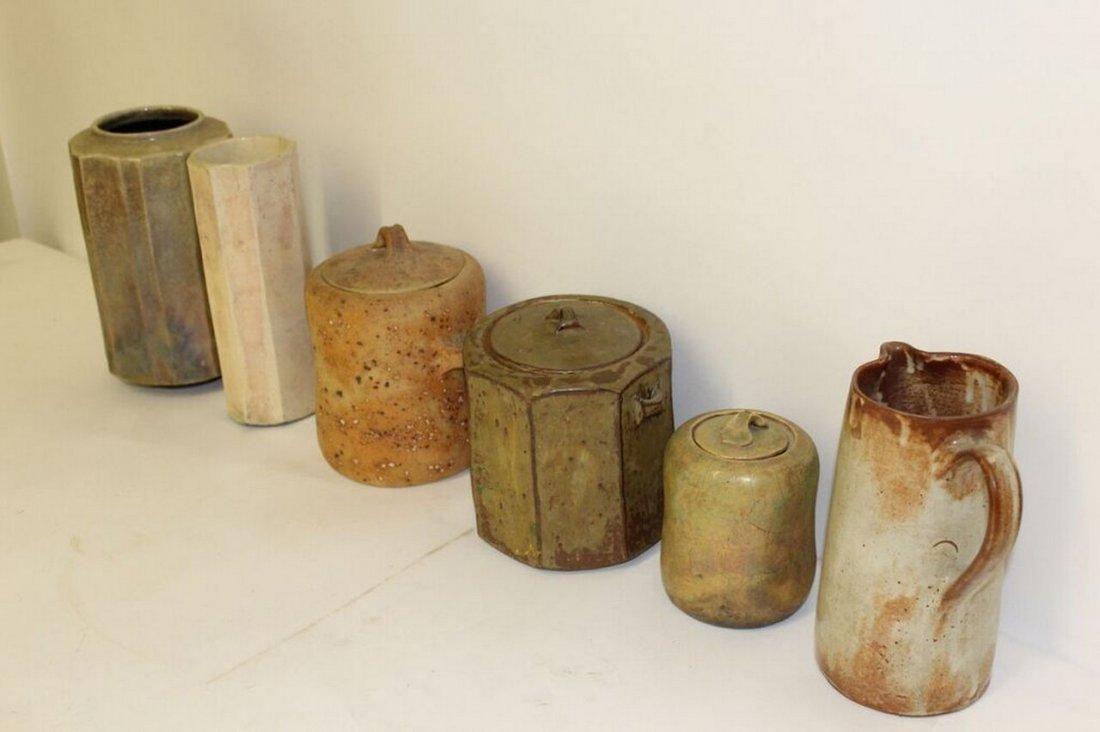 6 pieces of Mid Century Modern Studio Pottery