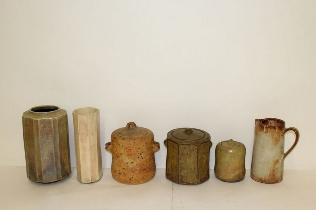 6 pieces of Mid Century Modern Studio Pottery - 2