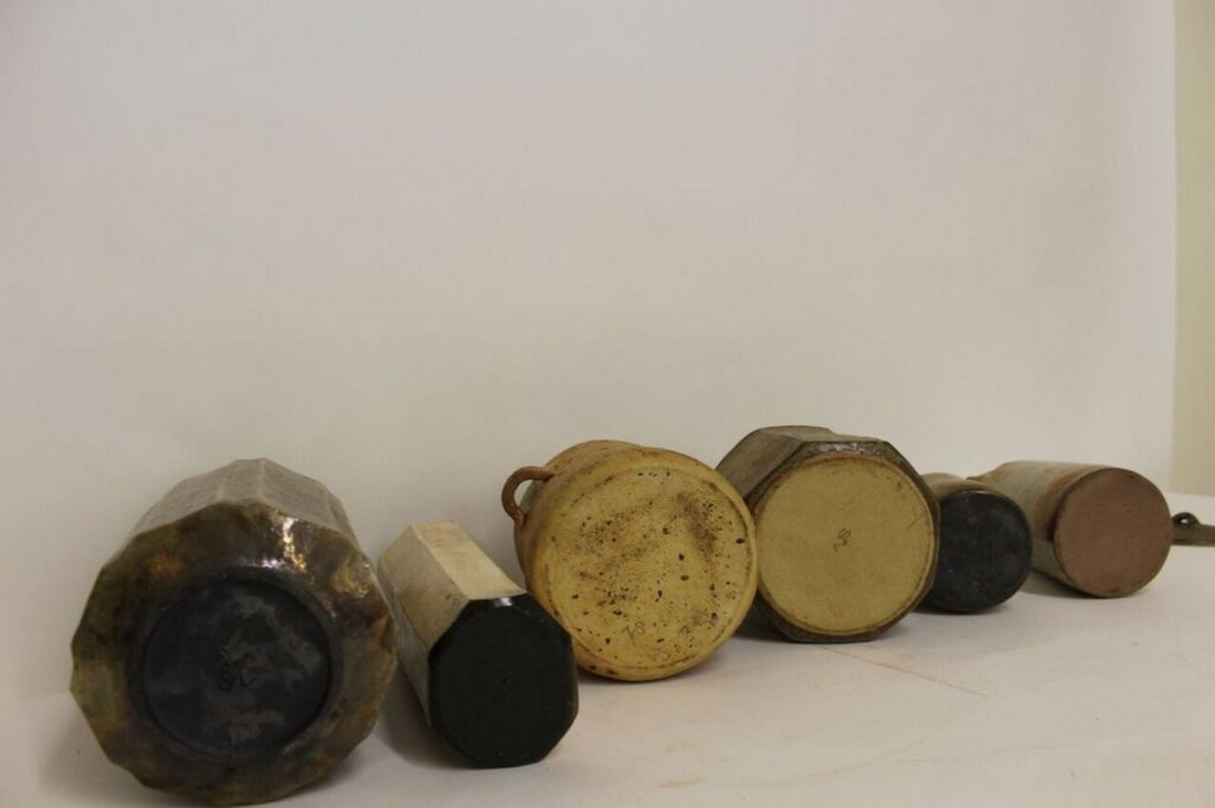 6 pieces of Mid Century Modern Studio Pottery - 3