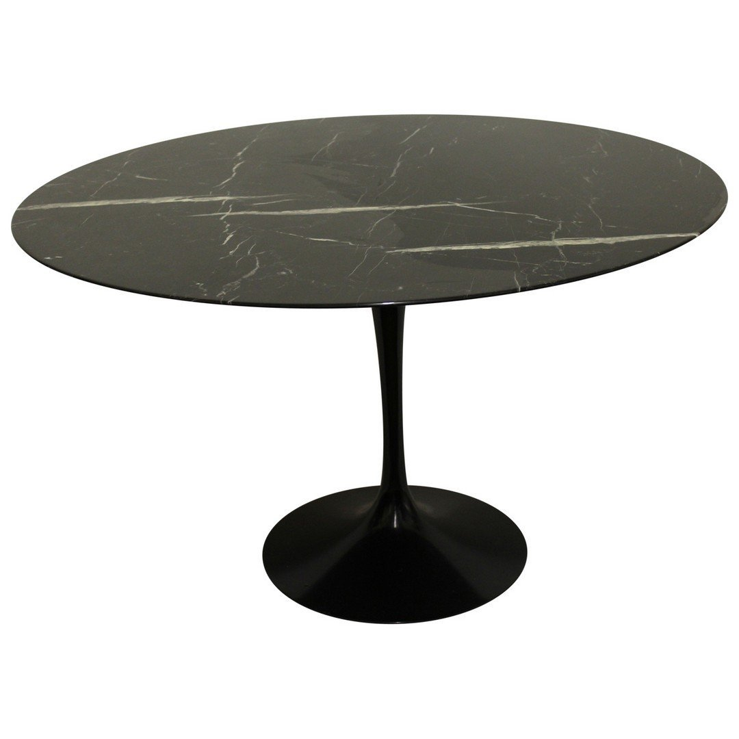 Eero Saarinen for Knoll Black Marble Tulip Table