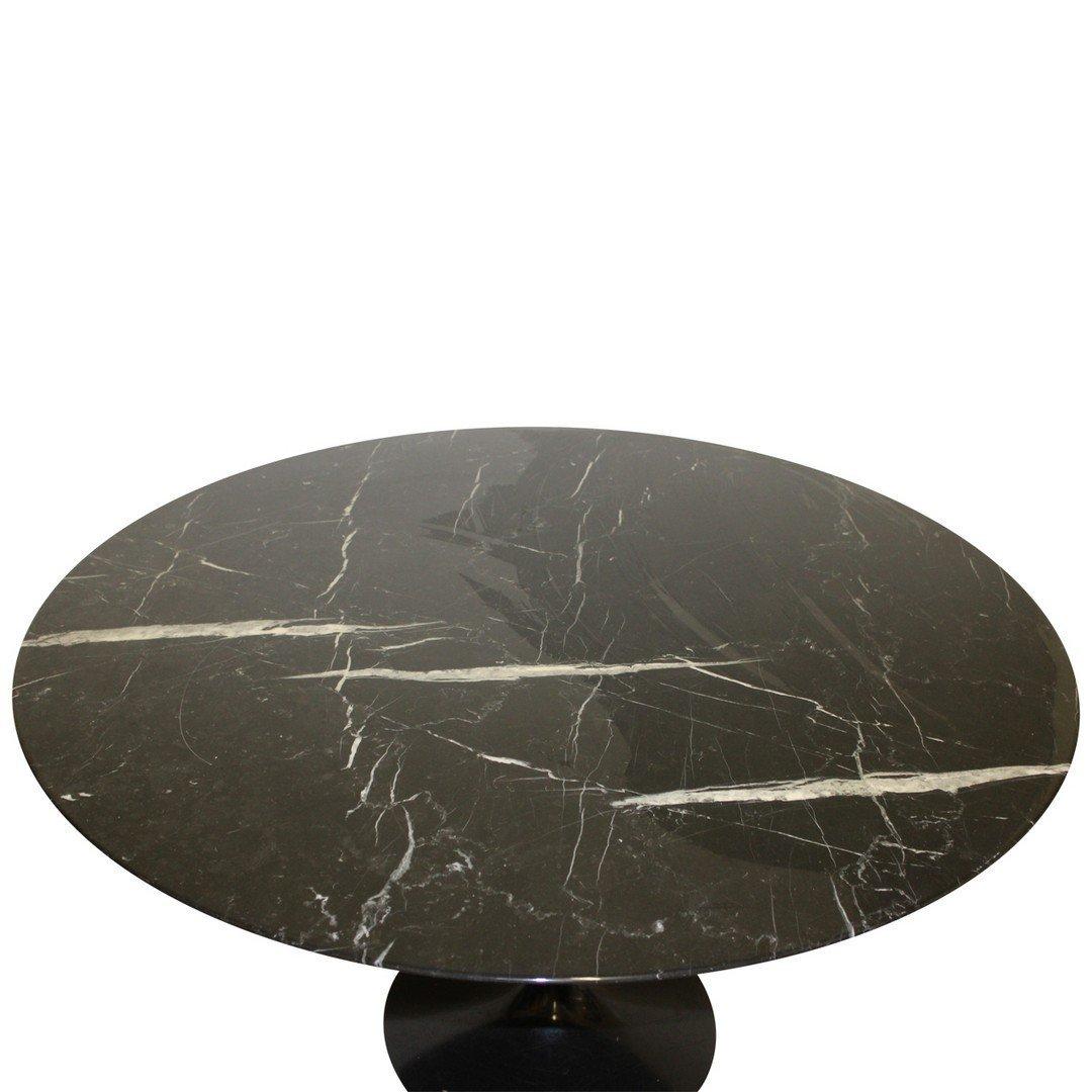 Eero Saarinen for Knoll Black Marble Tulip Table - 2