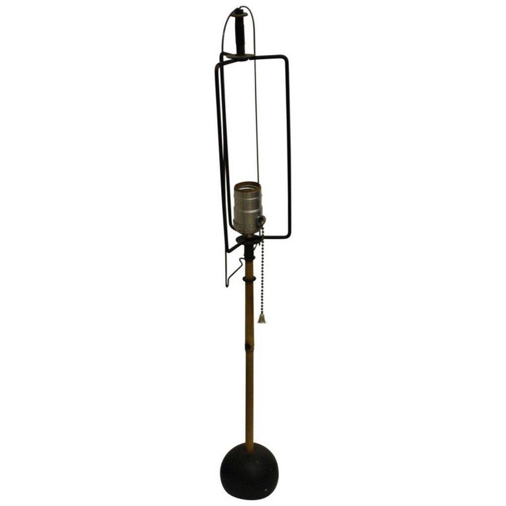 2 Isamu Noguchi Mid Century Modern Bamboo Lamps - 2