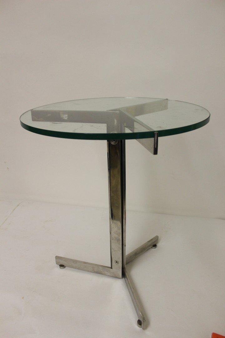 Mid Century Modern Chrome Side Table