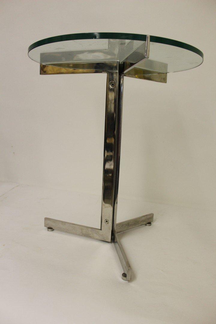Mid Century Modern Chrome Side Table - 2