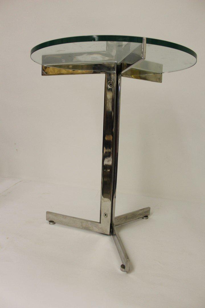 Mid Century Modern Chrome Side Table - 3