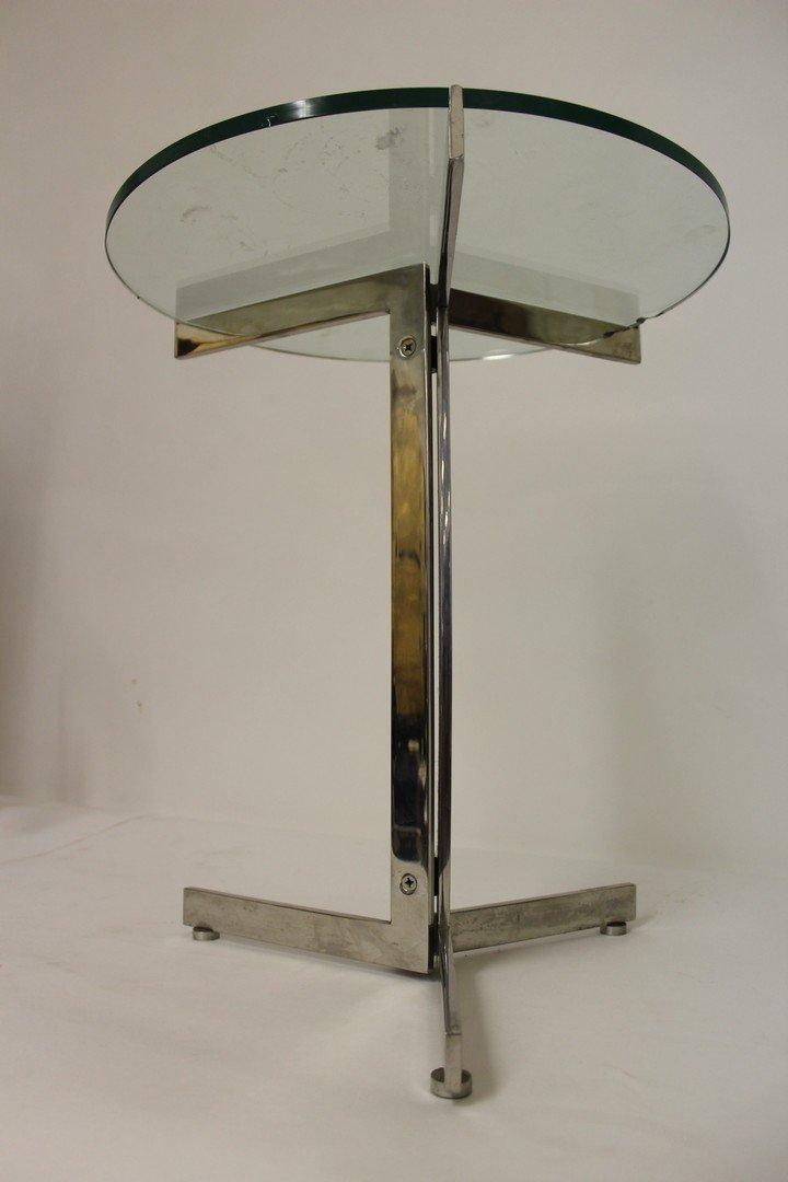 Mid Century Modern Chrome Side Table - 4