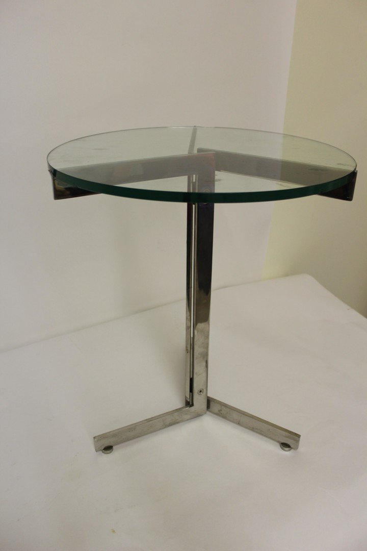 Mid Century Modern Chrome Side Table - 5