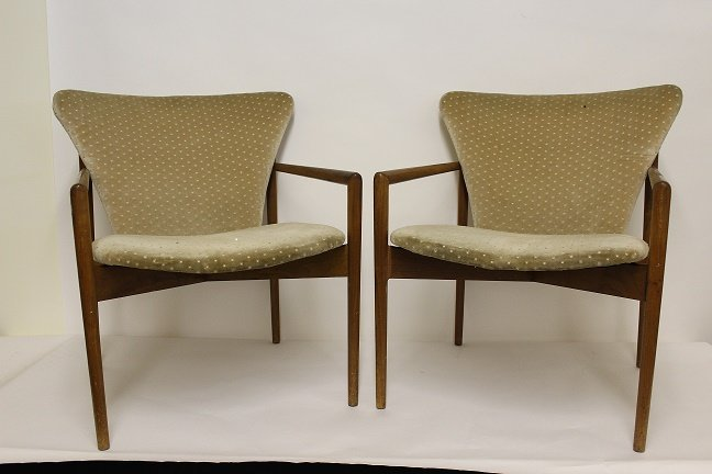 60's Danish Modern Chairs - 2 Pieces