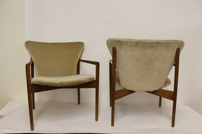 60's Danish Modern Chairs - 2 Pieces - 2