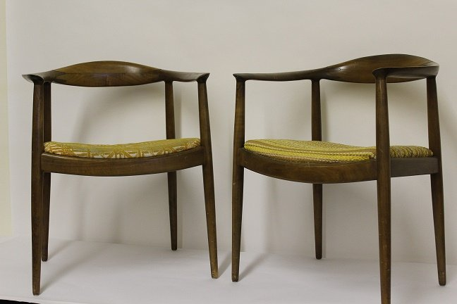 """Pair of Wenger """"The Chair"""" - Classic Danish Modern"""