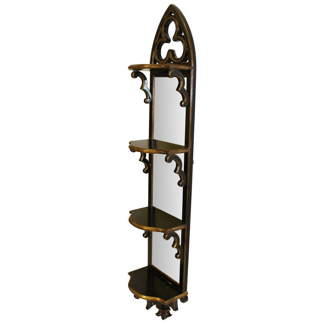 Theodore Alexander Mirrorback Hanging Shelf