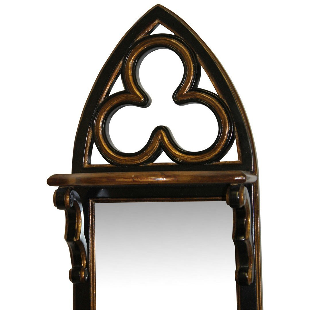Theodore Alexander Mirrorback Hanging Shelf - 2
