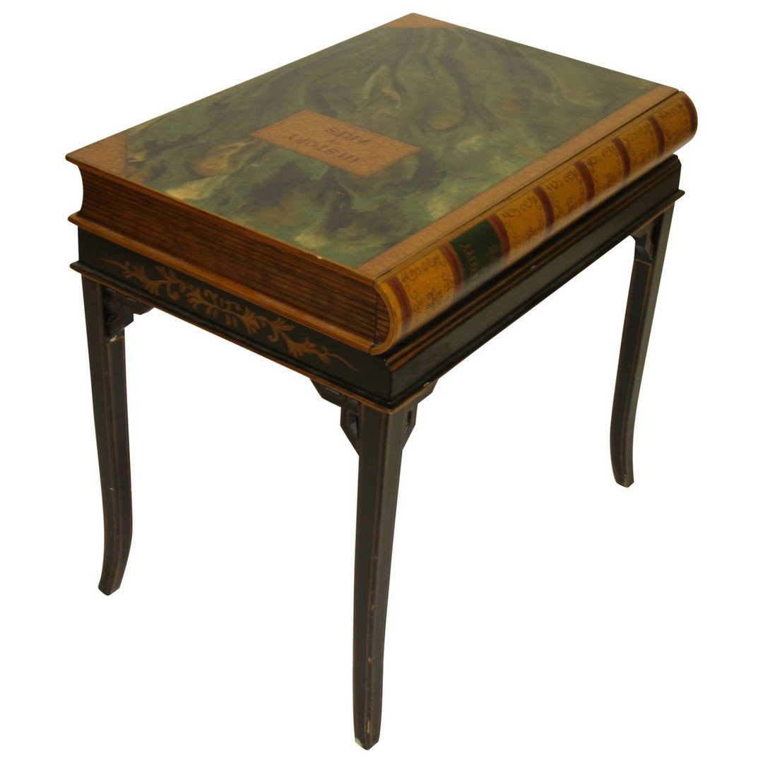 Maitland Smith 1 drawer Book Table - 2