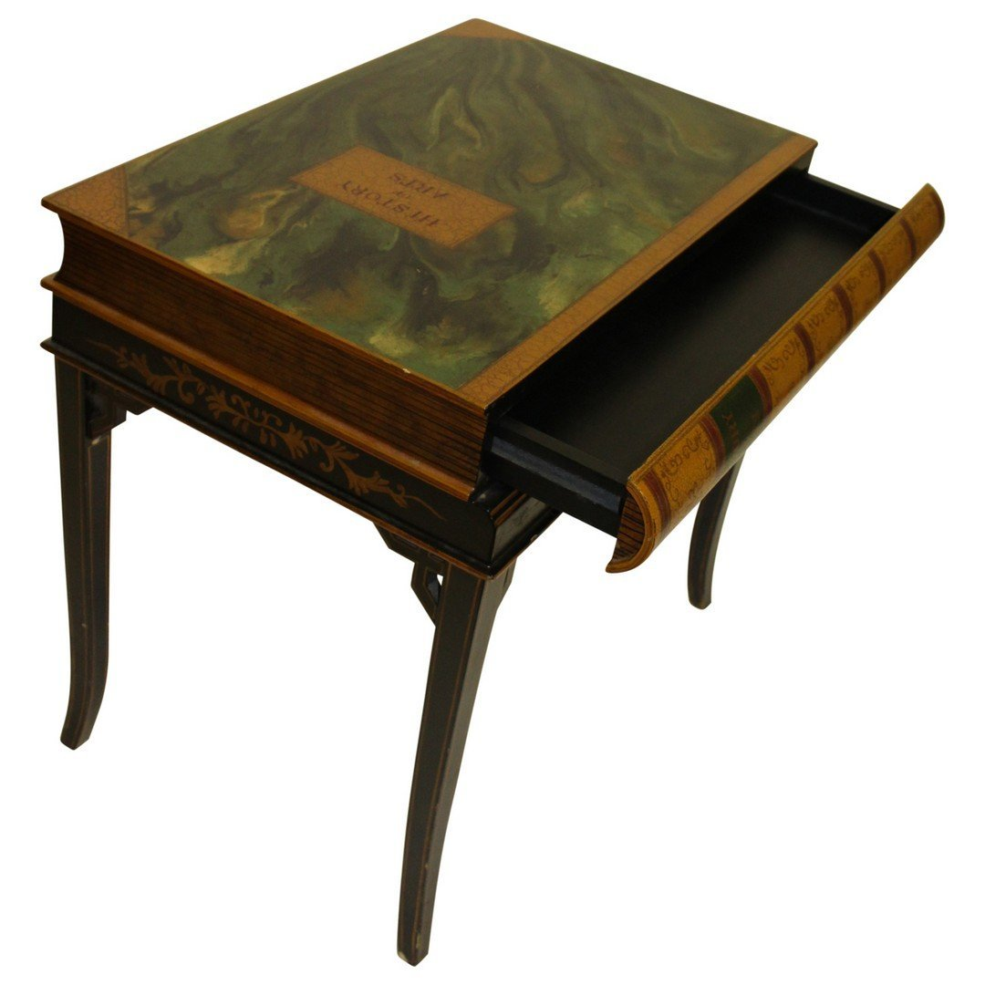 Maitland Smith 1 drawer Book Table - 3