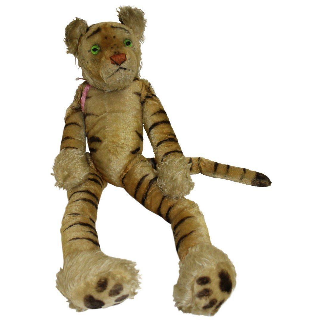 Rare Large Sitting Steiff Tiger.
