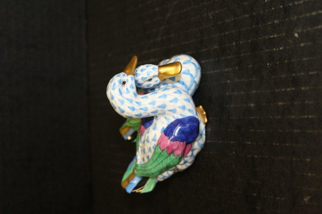 Herend Porcelain Fishnet Ducks. - 2