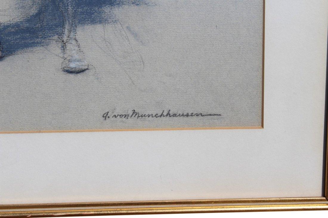 August Von Munchhausen pair of Balleriena Pastels - 4