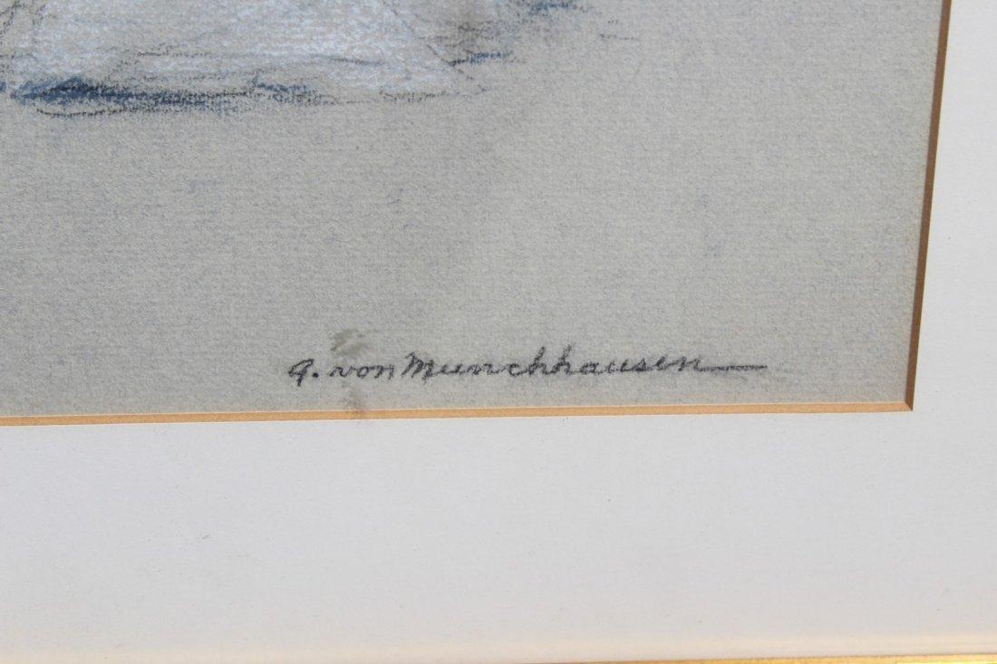 August Von Munchhausen pair of Balleriena Pastels - 5