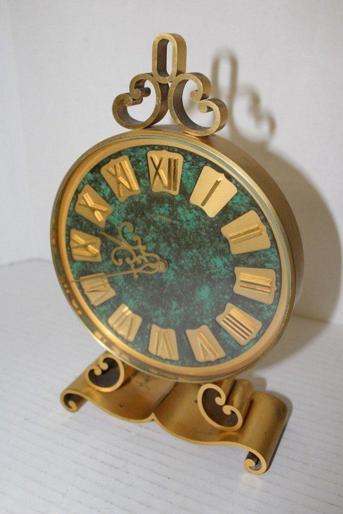 Swiss Brass & Malachite Clock - 2