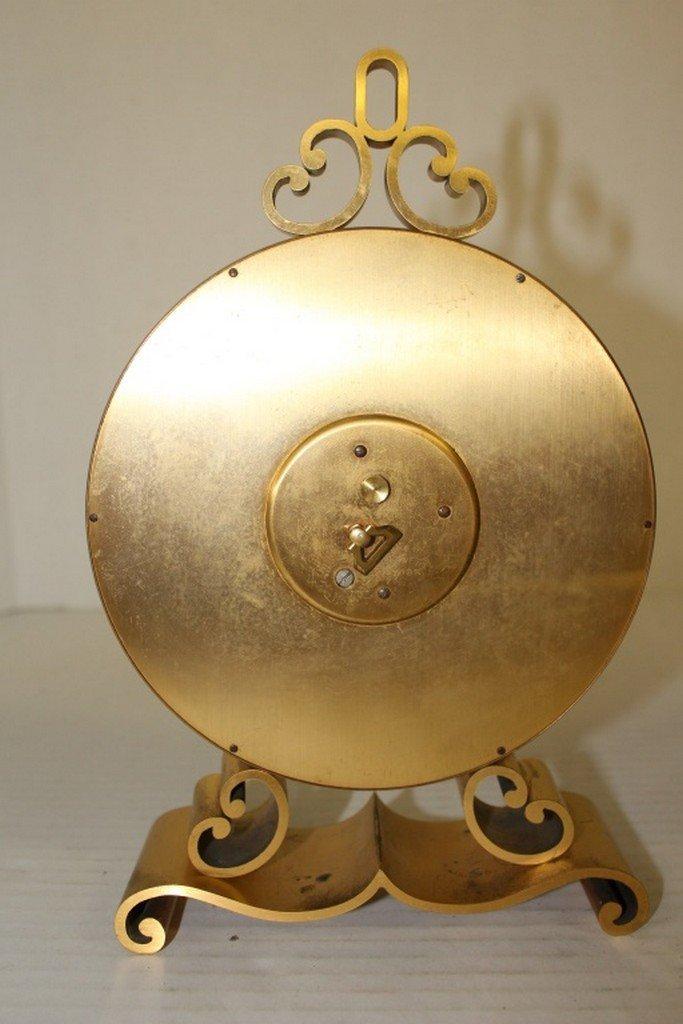 Swiss Brass & Malachite Clock - 4