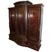 Victorian Triple Door Bookcase by Horner