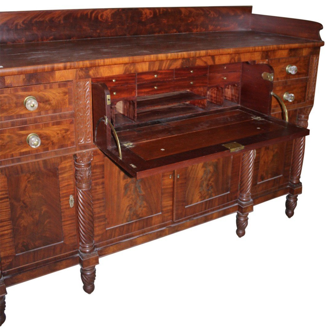 American Empire Butlers Sideboard with Desk & Key. - 3