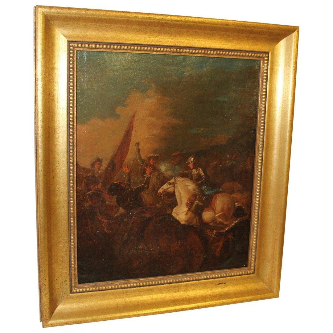 Oil on Canvas Battlescene