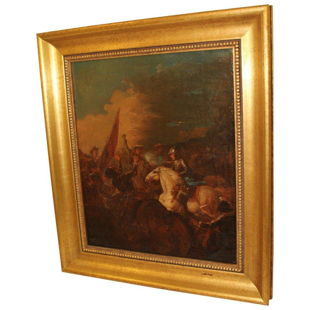 Oil on Canvas Battlescene - 2