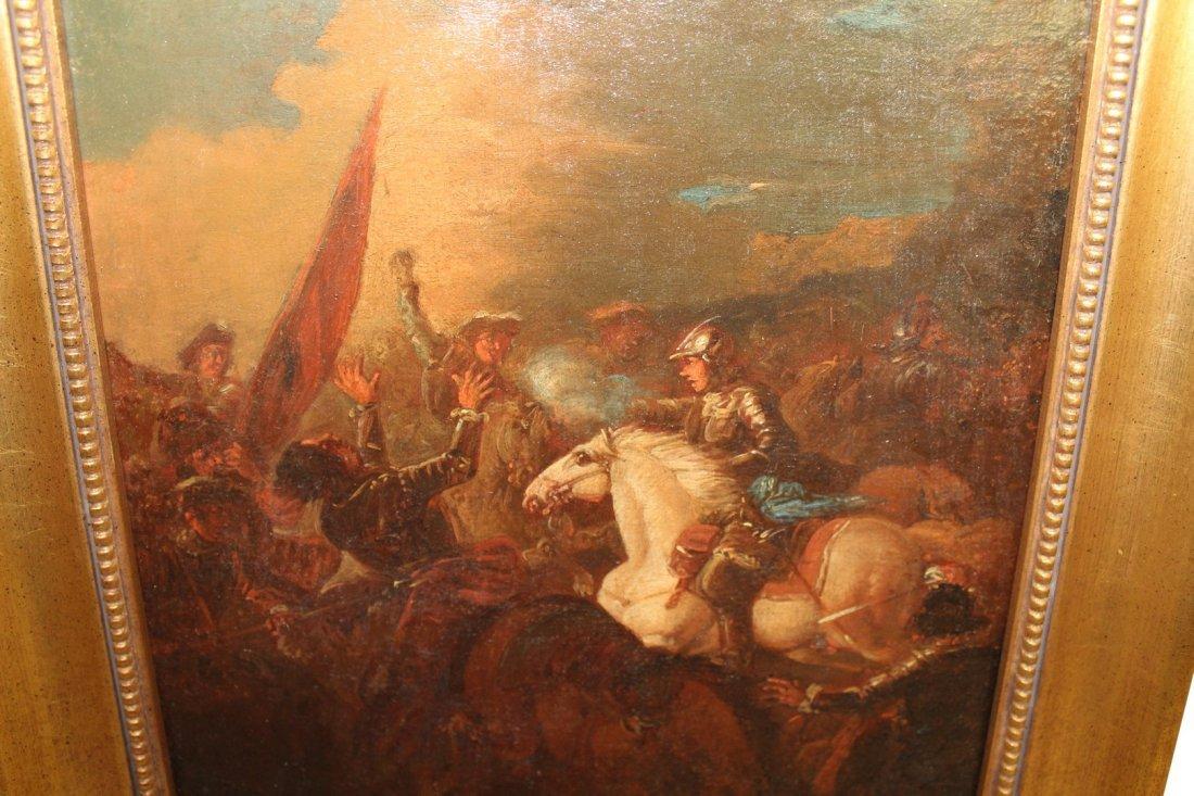Oil on Canvas Battlescene - 3