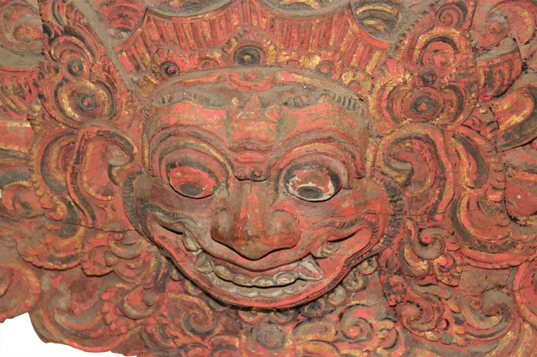Antique  Wooden Temple God or Deity