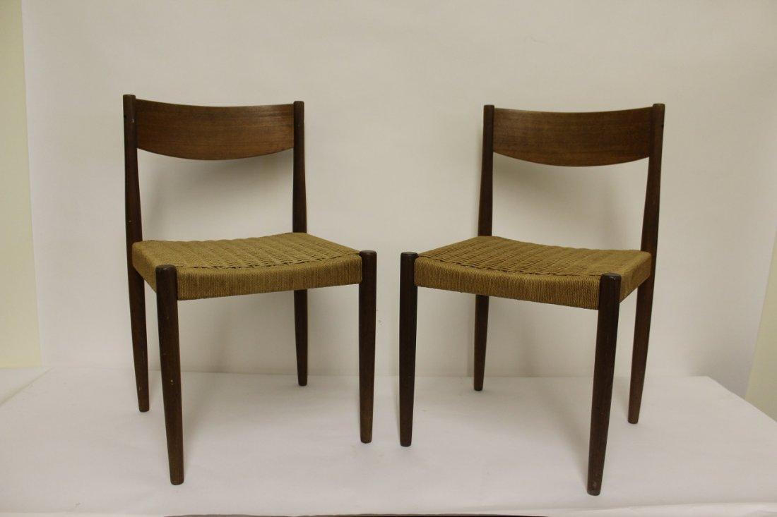 Pair of Danish Mid Century Modern Chairs