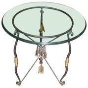 Maitland Smith Ornate Iron Side  Table
