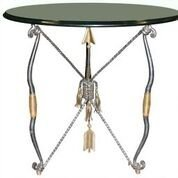 Maitland Smith Ornate Iron Side  Table - 2